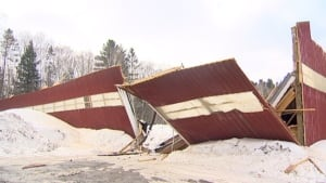 Odell Park barn collapse