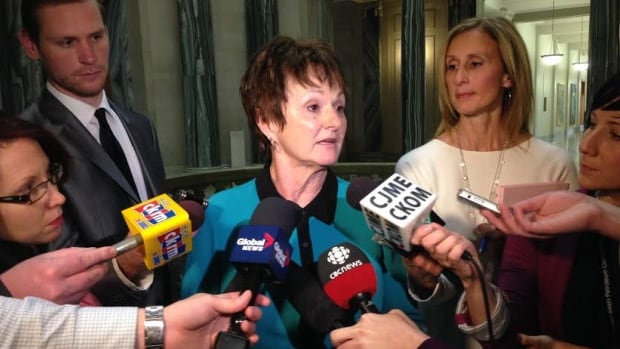 June Draude was often in the public eye in her role as social services minister.