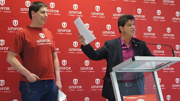Unifor National President Jerry Dias, right, says he is convinced there is enough support at the plants to hold a vote on whether or not to unionize.