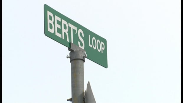 Bert's Loop road sign 04042014