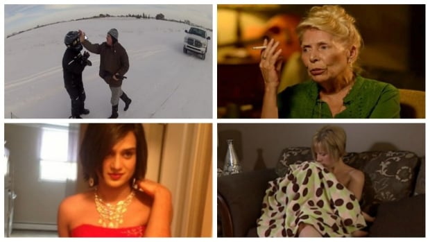 Photos from four of cbc.ca/saskatoon's most read stories over the past 12 months. (Clockwise from top left) Snowmobiler and landowner, Joni Mitchell, Tamara Bolan and Rohit Singh.