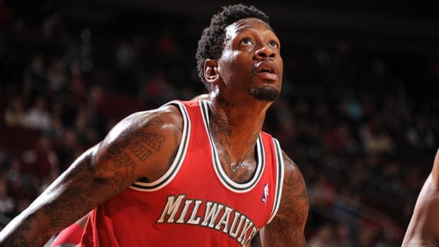 Milwaukee centre Larry Sanders is out for the season because of a fractured right orbital bone.