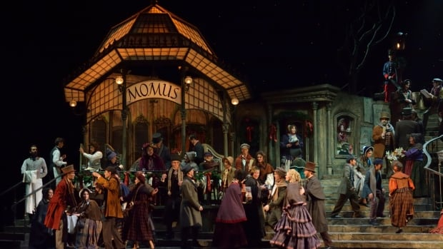 The Cafe scene in Act 2 of Manitoba Opera Association's production of Puccini's La Bohème which plays at the Centennial Concert Hall in Winnipeg April 5, 8 and 11.