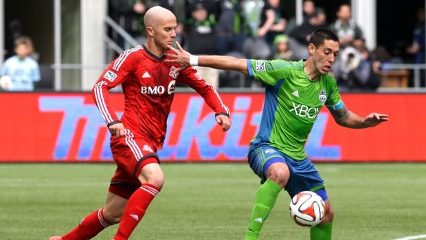 Toronto FC's American midfielder Michael Bradley, left, is coming off a strong mid-week performance in an international friendly.