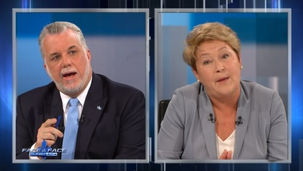 Philippe Couillard and Pauline Marois face off in a leaders' debate that came with its fair share of yelling matches.