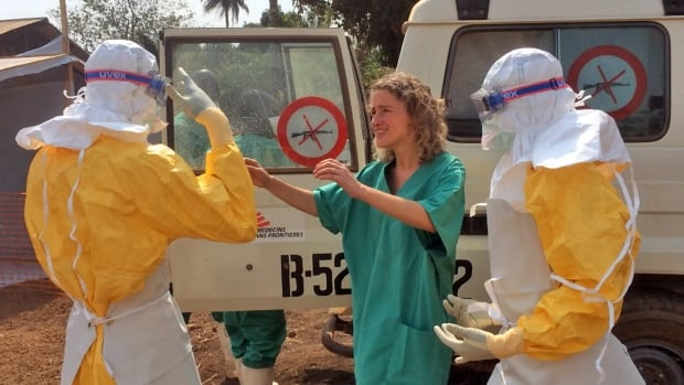 Healthcare workers from Doctors Without Borders prepare isolation and treatment areas for their ebola operations Gueckedou, Guinea.  A crowd attacked a clinic in Macenta and accused the organization's health workers of bringing Ebola to Guinea.