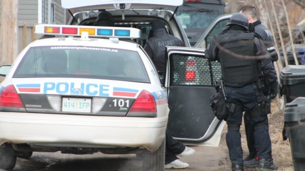 The Saskatoon police emergency response team and crisis negotiators were part of an all-night standoff outside of a house on the 400 block of 25th Street W. that ended after the suspect surrendered Saturday morning.