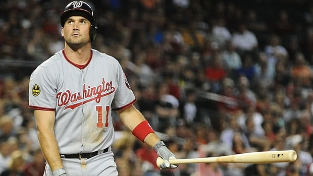 Ryan Zimmerman, shown in this file photo, sat out Sunday's game.