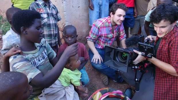 Halifax director and producer Ben Proudfoot and Ottawa-born cinematographer David Bolen are shown working on the documentary Romeo & Juliet in Rwanda. Proudfoot has won a Best Director award at Raindance Film Festival.