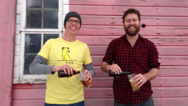 Winkler-area farmers and neighbours Derek Trinke (left) and Toban Dyck launched Prodigal Sons Brewery this week. The duo are in the early stages of building their business and looking for investors for the new brewery they hope to build on Dyck's farm.