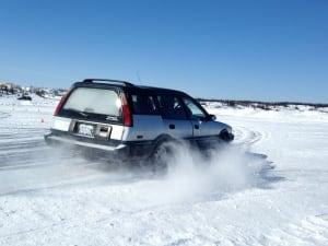 Ice racing in Yellowknife