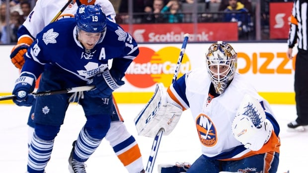 Toronto Maple Leafs forward Joffrey Lupul, left, hit the 20-goal mark for the fourth time in his career this season.