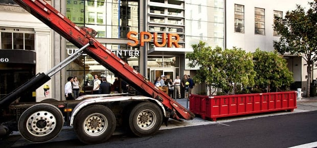 A park mobile being installed on street in Yerba Buena, Calif.
