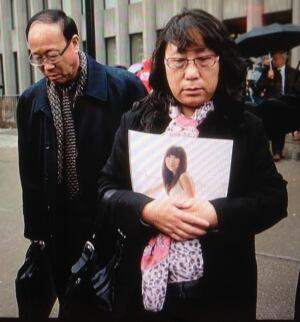 Parents of Qian Liu seen after court verdict