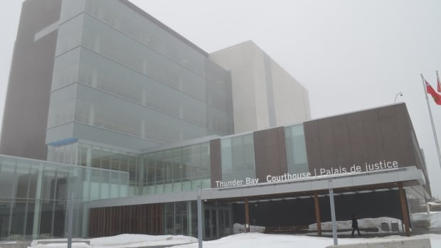 The new Thunder Bay courthouse opened for business on a foggy Monday morning.