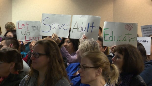 Many in attendance at the Vancouver School Board meeting opposed the move, saying the centre at Lord Roberts was the only place adults could come learn downtown.