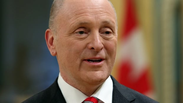 U.S. Ambassador to Canada Bruce Heyman talks to reporters after he presented his credentials to Governor General David Johnston at Rideau Hall in Ottawa on April 8, 2014.