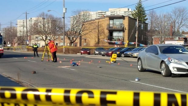 A 12-year-old boy was struck by a vehicle at Danforth Road and Linden Avenue late on Tuesday afternoon.