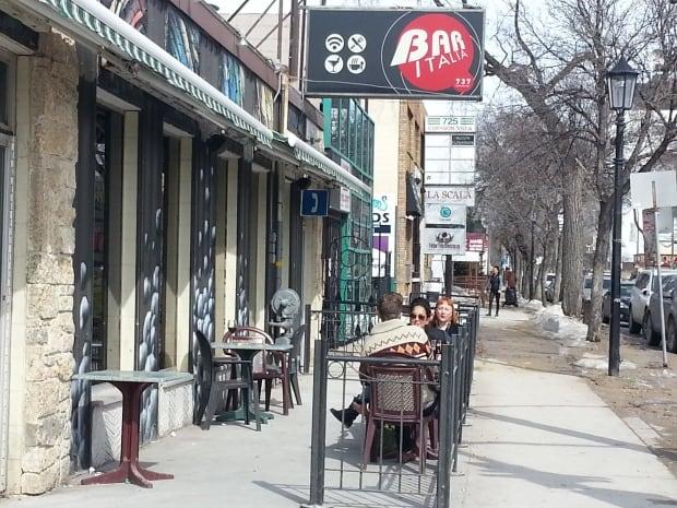 Patio season starts on Corydon Avenue