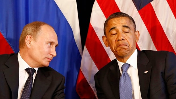International men of mystery. U.S. President Barack Obama and Russia's President Vladimir Putin in Mexico for a G20 summit in June 2012 when relations were still mostly cordial.