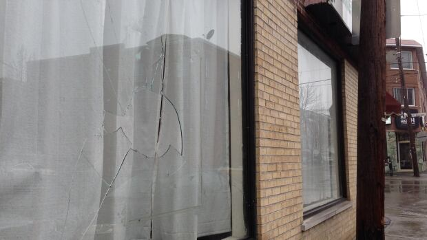 "An Islamic community centre in Montreal's East-End had an axe thrown through its window with an anti-Muslim note attached to it just after Monday night's provincial election. The note also said ""F--- Liberals,"" the winning party."