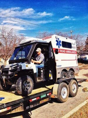 Off-road ambulance