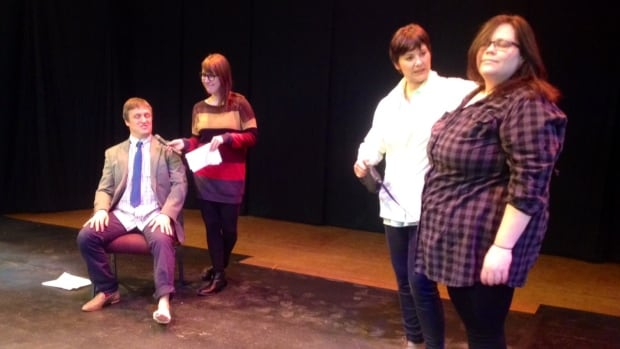 Actors prepare one of the six plays that will be part of the Short Cuts Festival this weekend.
