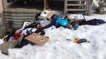 Patrick Brazeau items things backyard Boulevard Labrosse