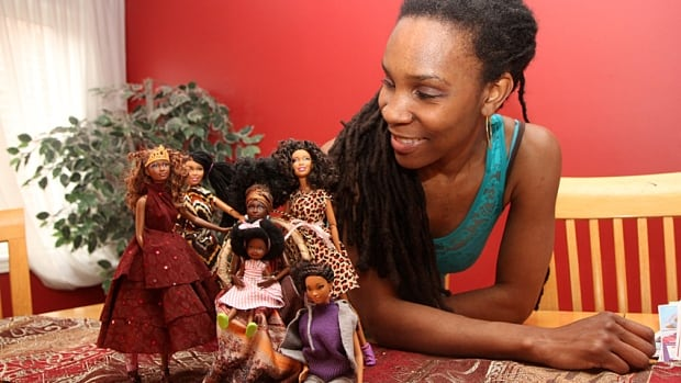 Queen Cee Robinson of Hamilton gives dolls makeovers so they reflect different ethnic backgrounds.