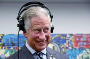 Prince Charles headphones Queens Diamond Jubilee May 2012