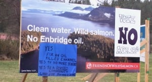 Kitimat Enbridge signs
