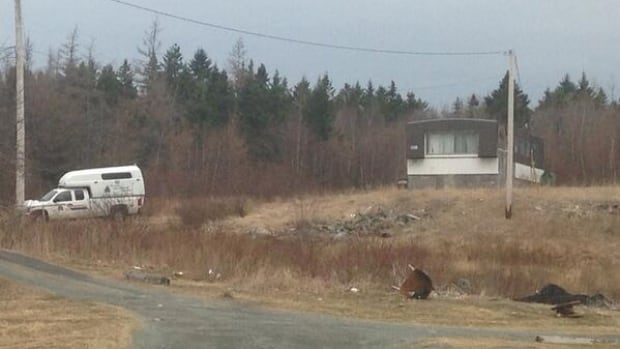 RCMP forensic officers scoured this North Preston trailer for clues in the sex assault and confinement case.