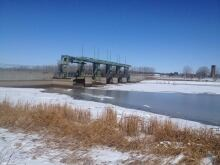 Portage Diversion, April 13, 2014