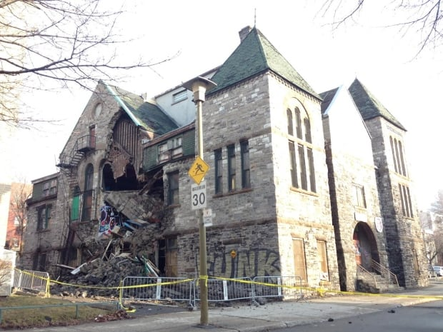 Little Burgundy Building collapse Montreal