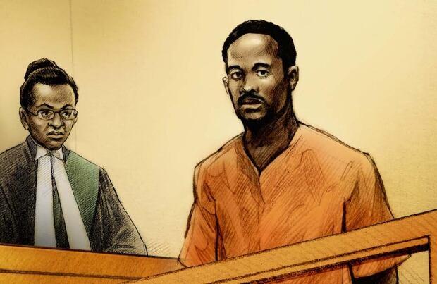 Court illustration of Alwayne Bigby
