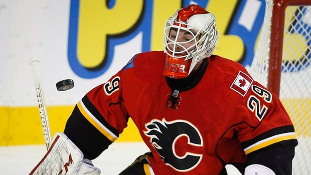 The Flames' Brian Burke says goialtender Karri Ramo, pictured, has proven he deserves to have the starter's role next season in Calgary.