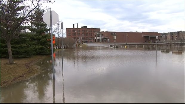High water in the Saint-François River at Sherbrooke, Que., has forced authorities to issue a preventive evacuation order for 15 homes, with more possible as water levels continue to rise.