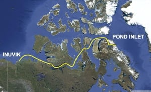 Snorkeler's planned route