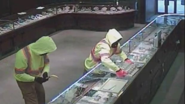 Thieves caught on tape at Birks.