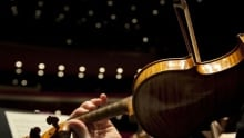 violin and bow Winnipeg Symphony Orchestra