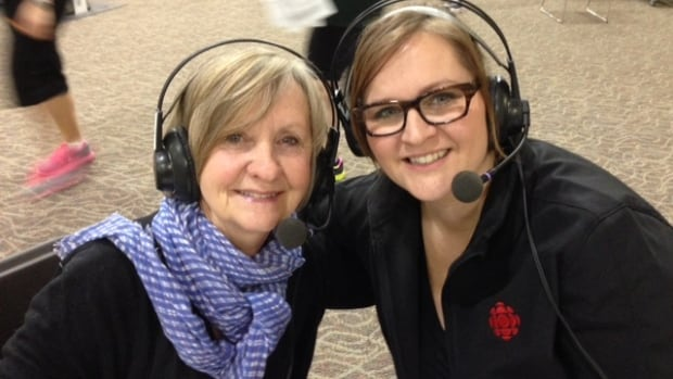 Carol Haines, posing with Information Radio host Marcy Markusa, says she overcame depression by joining the Reh-Fit Centre.