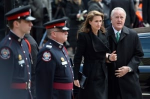Brian daughter Caroline Mulroney Flaherty Funeral Apr 16 2014