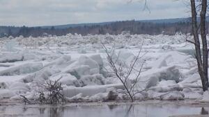 St. John River ice jam
