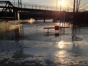 Sherbrooke flood receding