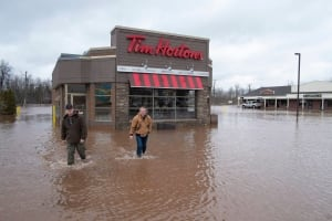 NB Flooding Sussex Tim Hortons Apr 16 2014