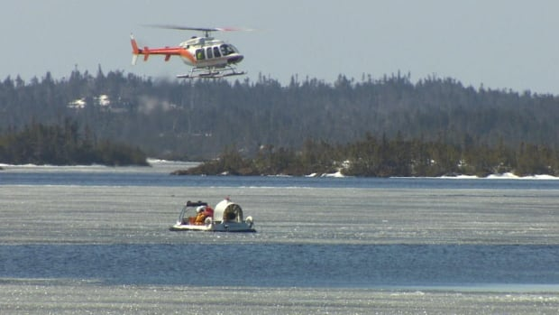 The search continues for a missing fisherman who went ice fishing on Hawco's Pond in Deer Park early Wednesday.