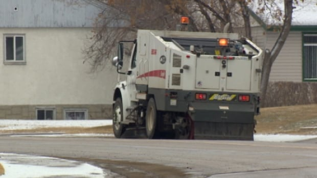 Sweeping on arterial and collector roads started two weeks ago.
