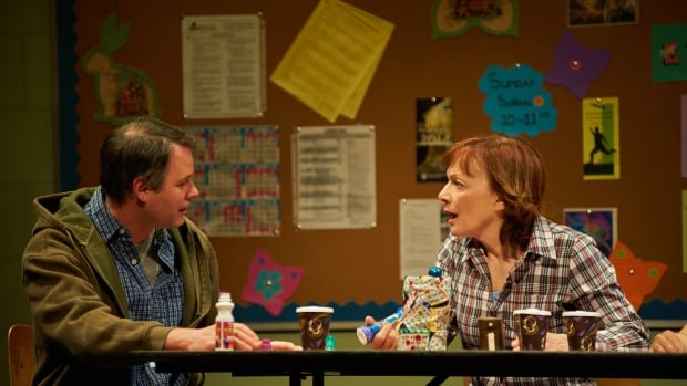 Eric Blais as Stevie and Martha Burns as Margaret in Good People.