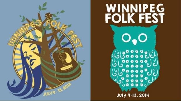 These designs will grace the 2014 Winnipeg Folk Fest T-shirts.