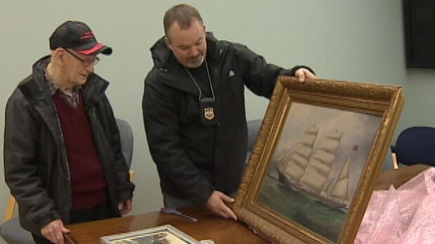 This Hamburg painting was returned to its home in Hantsport after it was stolen by Tillman six years ago.